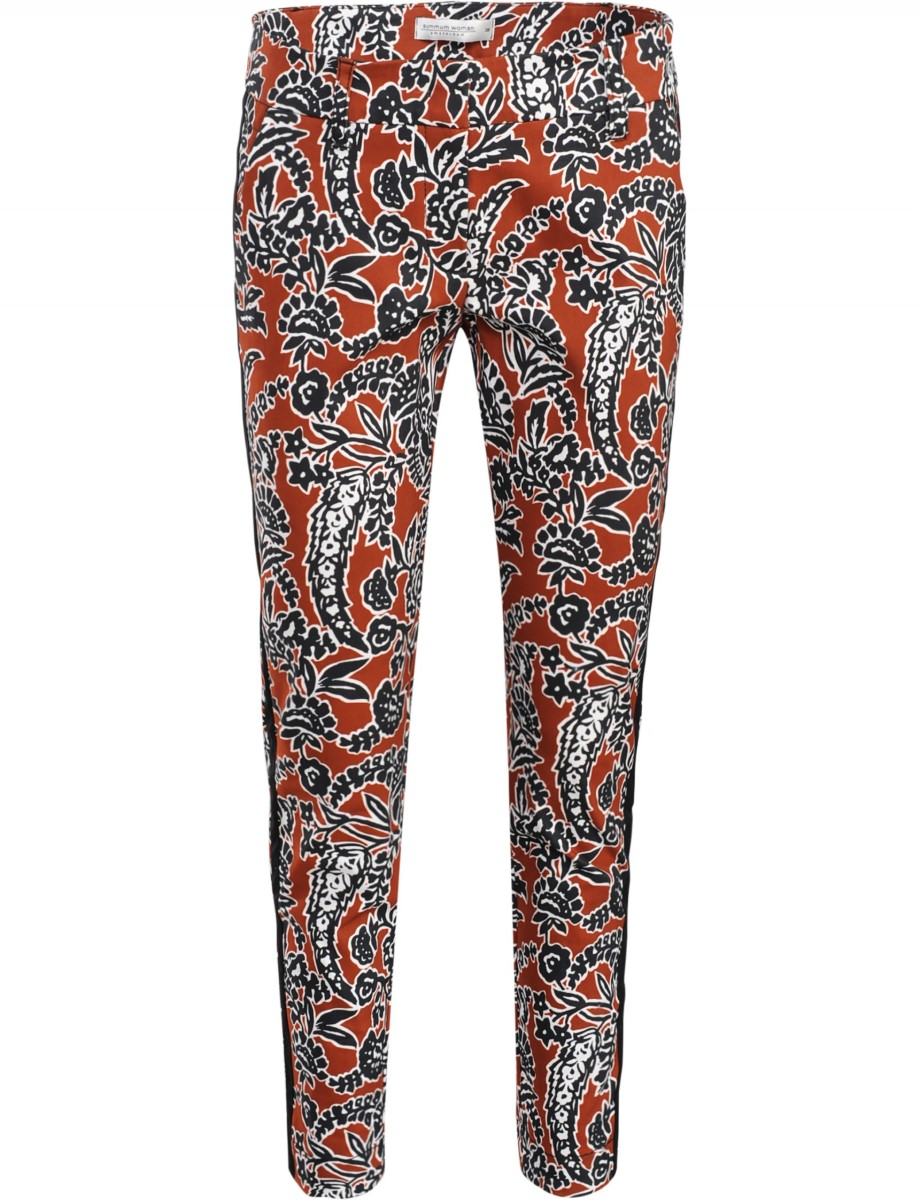 Summum multicolour bloemen print stretch broek