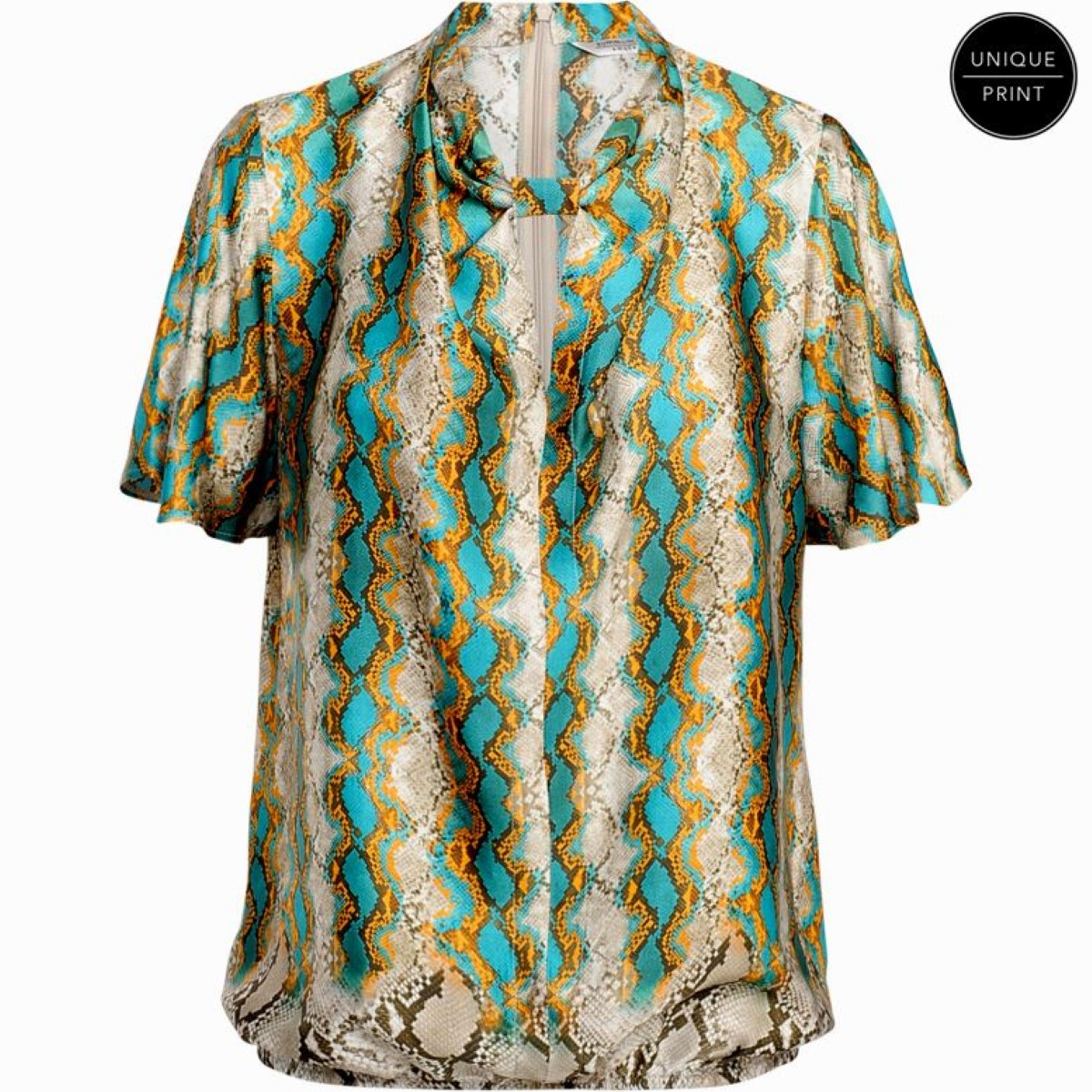 Summum top multicolour snake print