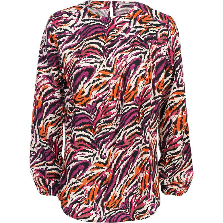 Summum top multicolour tiger cupro