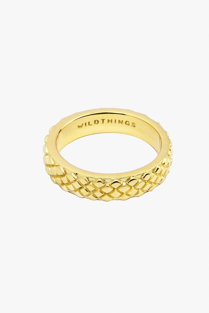 Wildthings python ring gold maat S