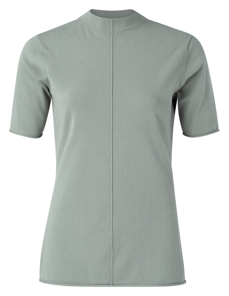 Yaya dusty sage gebreide top met turtle neck