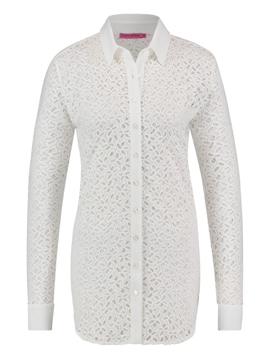 Studio Anneloes off white Poppy lace blouse